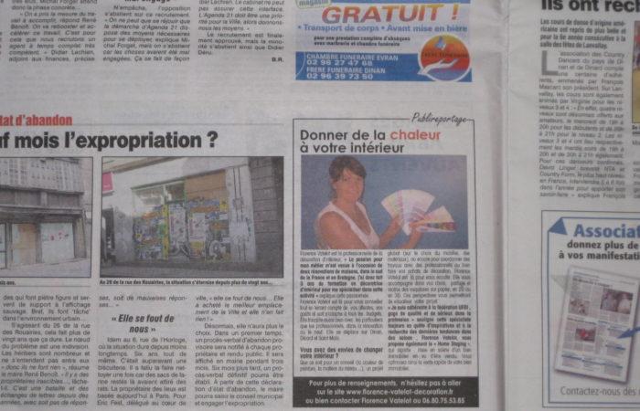 Article paru dans le petit bleu du 4 octobre 2012 for Article decoration interieur