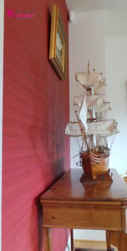 focus papier peint et bateau
