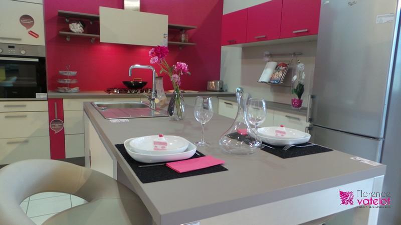 déco cuisine rose