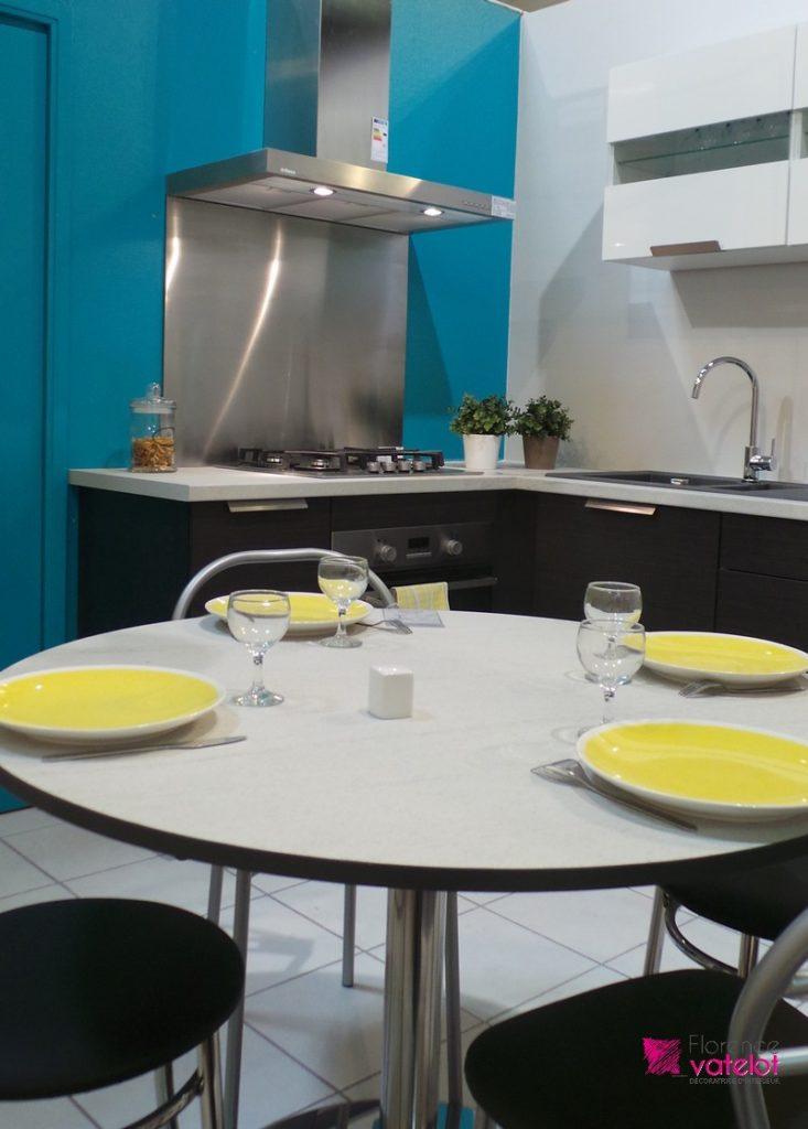 mise en couleur cuisine bleue