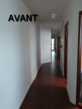 couloir bureaux professionnels avant travaux