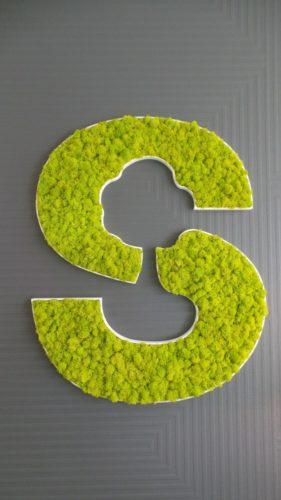Logo végétalisé pour entreprise à St Grégoire (35) par Florence Vatelot, Décoratrice UFDI à St Malo, Dinan, Dinard et Cancale (22)