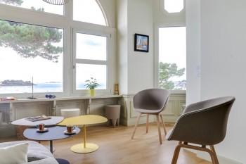 mise en couleur d'un salon par Florence Vatelot, Décoratrice UFDI à St Malo, Dinan, Dinard et Cancale (22)