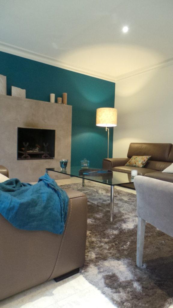 Salon bleu Sarah Lavoine par Florence Vatelot, Décoratrice UFDI à St Malo, Dinan, Dinard et Cancale (22 et 35)
