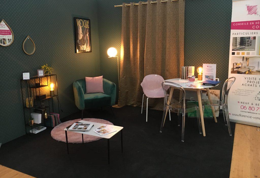 salon de l 39 habitat 2018 dinan florence vatelot d coration ufdi st malo dinan dinard. Black Bedroom Furniture Sets. Home Design Ideas