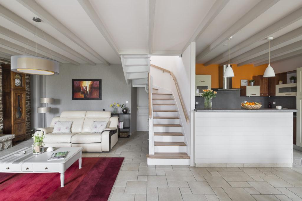 Rénovation d'une pièce à vivre,, séjour, cuisine ouverte, salon et salle à manger par Florence Vatelot, Décoratrice UFDI à St Malo, Dinan, Dinard et Cancale (22 et 35)