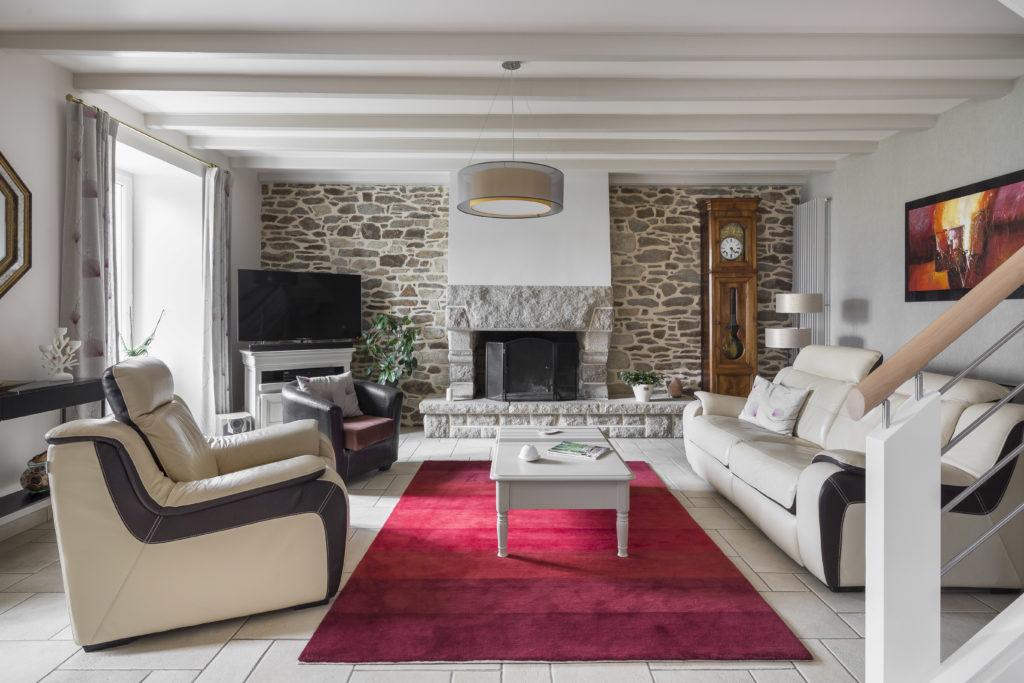 Agencement et conseils Déco pour un salon par Florence Vatelot, Décoratrice UFDI à St Malo, Dinan, Dinard et Cancale (22 et 35)