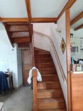 Relooking escalier bois par Florence Vatelot, Décoratrice UFDI à St Malo, Dinan, Dinard et Cancale (22 et 35)