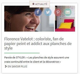 interview de Florence Vatelot sur setmystyle decoration et planche de style