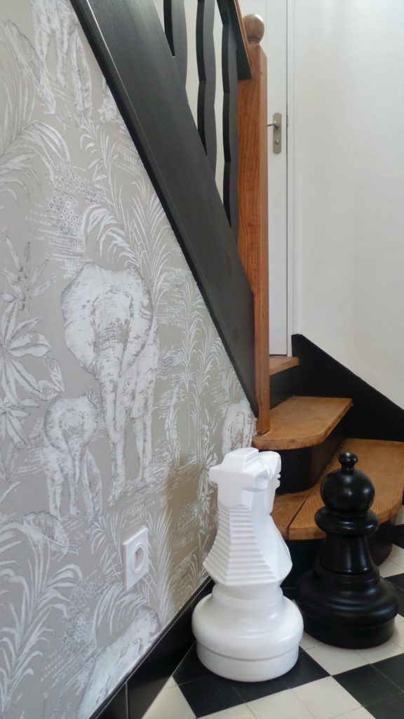 Déco escalier par Florence Vatelot, Décoratrice Ufdi à Saint Malo, Dinard, Dinan, Cancale