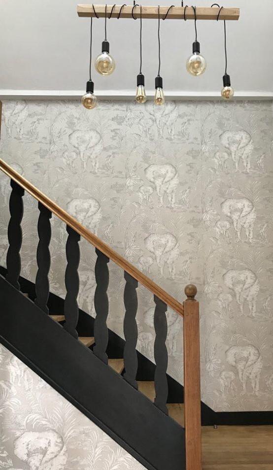 Décoration d'escalier à St Malo, par Florence Vatelot, Décoratrice UFDI à St Malo, Dinan, Dinard et Cancale (22).