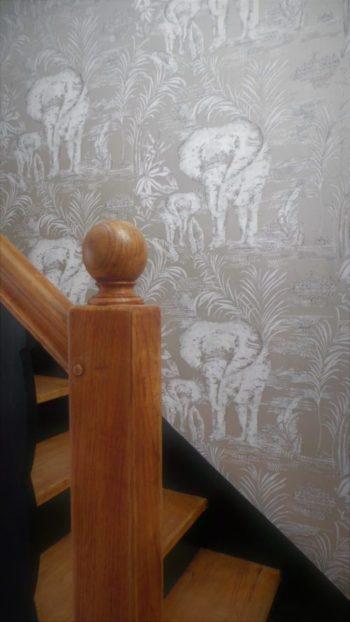 Rénovation d'une cage d'escalier par Florence Vatelot, Décoratrice Ufdi à Saint Malo, Dinard, Dinan, Cancale