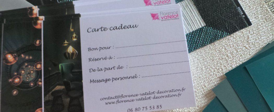Bon cadeau pour conseils en décoration par Florence Vatelot, Décoratrice UFDI à St Malo, Dinan, Dinard et Cancale (22).