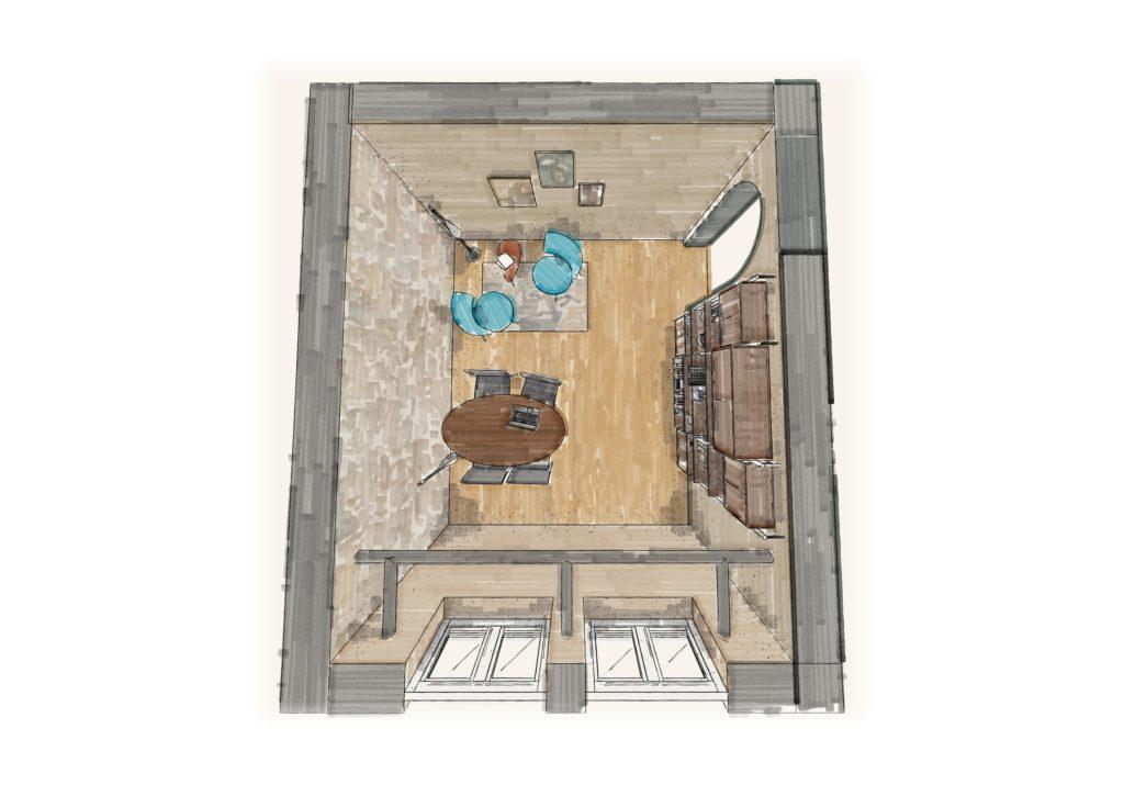 projet Barbier St Malo rhc2-pjt rhc² vue plongeante feutre